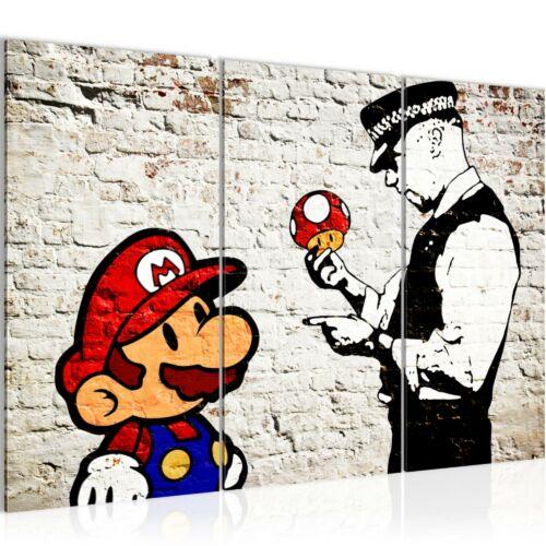 Mario és Cop Banksy vászonkép