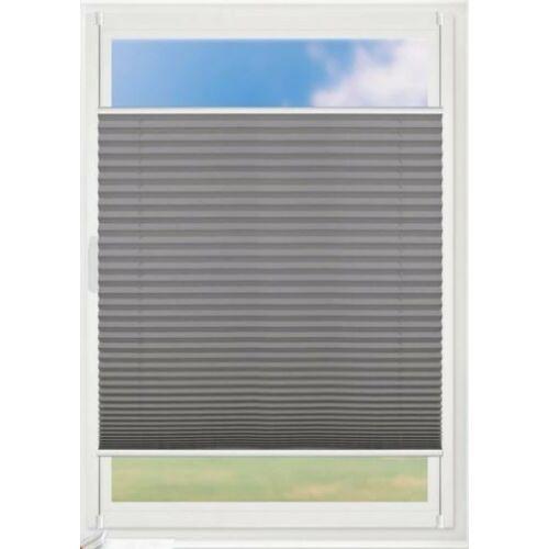 Grandekor 75×130 cm harmónika roló, pliszé függöny, fúrás nélkül, antracit szín