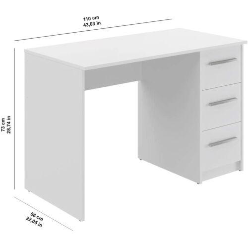 Movian Idro íróasztal, 110 x 56 x 73,5 cm, fehér