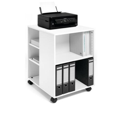 Durable irodai görgős tároló, nyomtató asztal, 75x60x53 cm, fehér