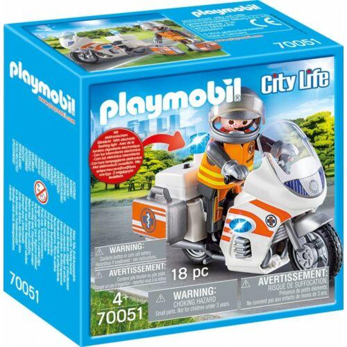 PLAYMOBIL - SÜRGŐSSÉGI MOTOR VILLOGÓVAL (70051)